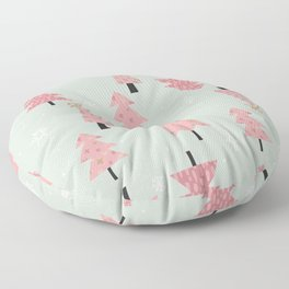 Pink Christmas Trees Floor Pillow
