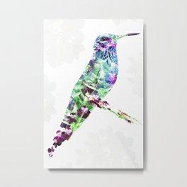 """""""Flowers Sunbird"""" Metal Print"""