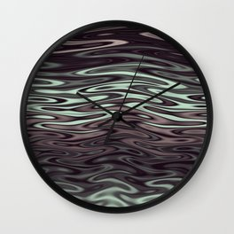 Ripples Fractal in Mint Hot Chocolate Wall Clock