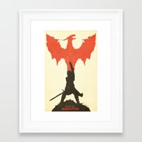 dragon age inquisition Framed Art Prints featuring Dragon Age: Inquisition V1 by FelixT