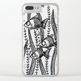 Inky fish Clear iPhone Case