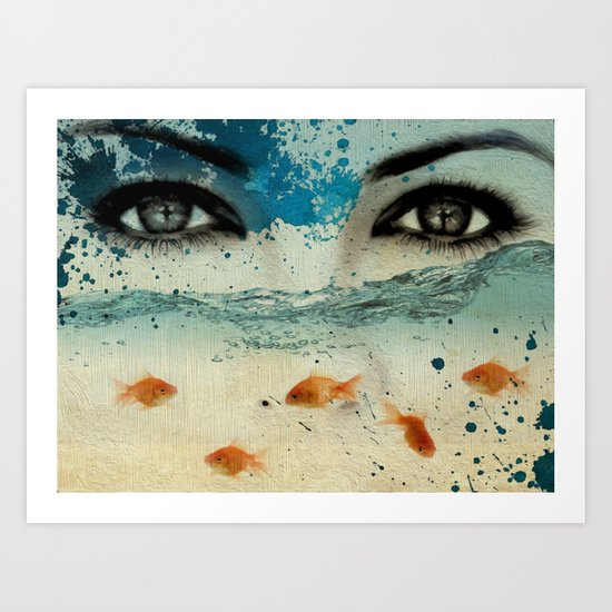 tear in the ocean Art Print
