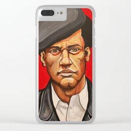 "Huey Newton ""Revolutionary"" Clear iPhone Case"