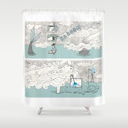 The search of love Shower Curtain