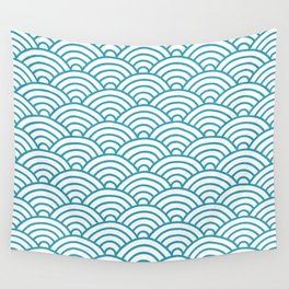 Japanese Waves Seigaiha Wall Tapestry