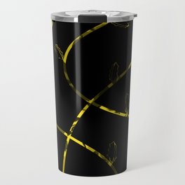 Jagged leaves, yellow Travel Mug
