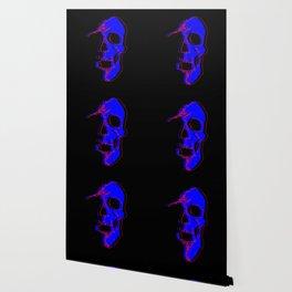 Skull - Blue Wallpaper