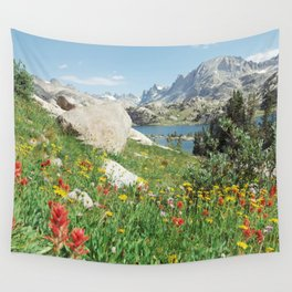August Wildflowers in the Rockies Wall Tapestry
