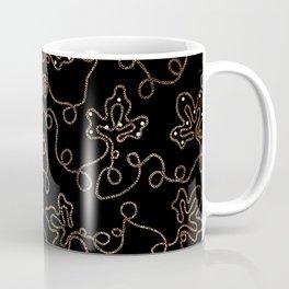 Elegant gold embellishments on black Coffee Mug