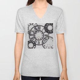 Clocks Unisex V-Neck