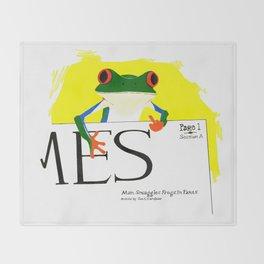 Tree Frog Talk Throw Blanket
