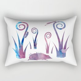 hedgehog and insects Rectangular Pillow