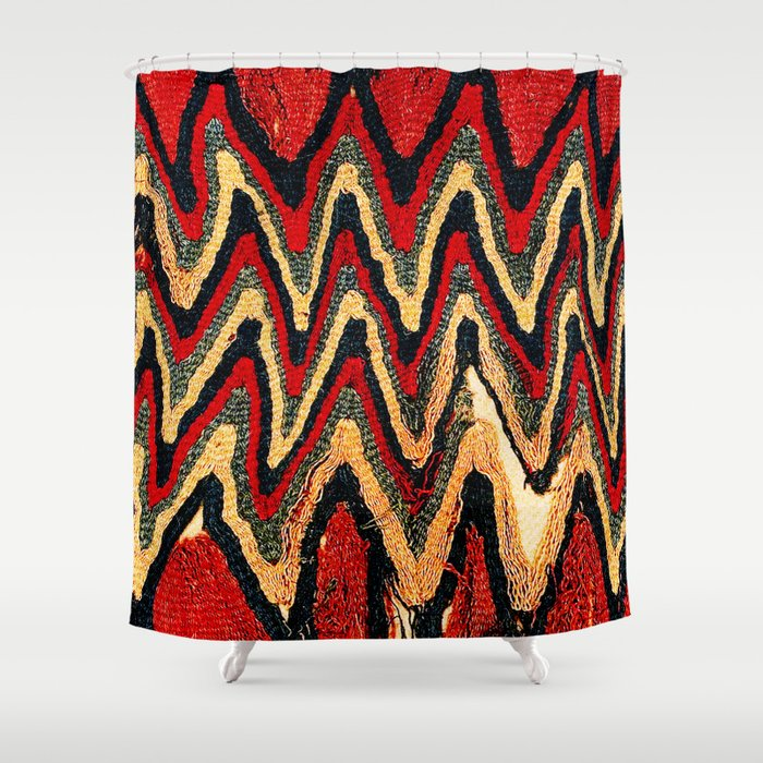 Ancient Peruvian Coca Bag Print Shower Curtain