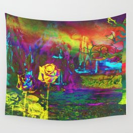 """""""Otherworld Citrus Rose"""" by surrealpete Wall Tapestry"""