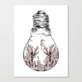 Aquarium Bulb Seahorse Canvas Print