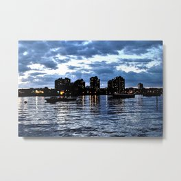 The Thames at Night Metal Print