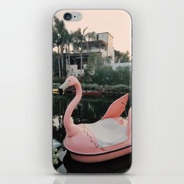 Flamingo Boat in Venice iPhone Skin