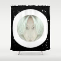 portal Shower Curtains featuring Portal by Geni