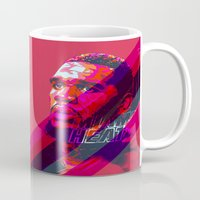 greg guillemin Mugs featuring GREG ODEN MIAMI HEAT by mergedvisible