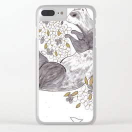 Ferret + Aubretia Clear iPhone Case