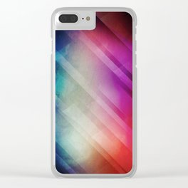 Vivid - Colorful Geometric Mountains Texture Pattern Clear iPhone Case