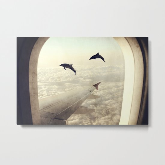 Dolphins Metal Print