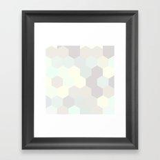 PASTEL HONEYCOMB Framed Art Print