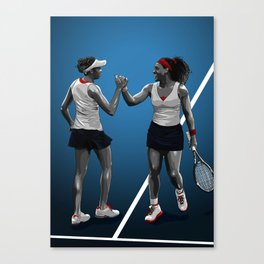 Venus & Serena Williams Canvas Print