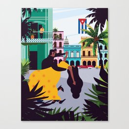 Havana ft. Salsa Dancers Canvas Print