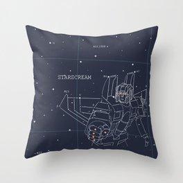 Starscream Star Chart Throw Pillow