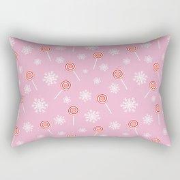 Winter lollipop design Rectangular Pillow