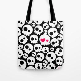A skull in love Tote Bag