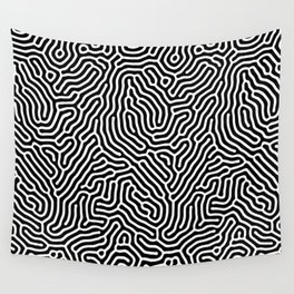 diffuse reaction black white 2019 Wall Tapestry
