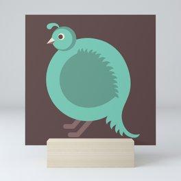 Letter Q // Animal Alphabet // Quail Monogram Mini Art Print