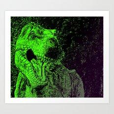 Flashy T-Rex  Art Print