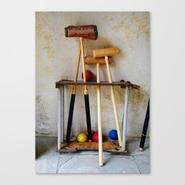 Anyone For Croquet? Canvas Print