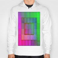 aperture Hoodies featuring Aperture #1 Fractal Pleat Texture Colorful Design by CAP Artwork & Design