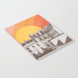 Rainbow Sky Above Paris Notebook