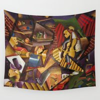bar Wall Tapestries featuring Space Bar by DavidHady