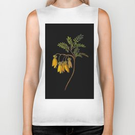 Sophora Tetraptera Mary Delany Floral Paper Collage Delicate Vintage Flowers Biker Tank