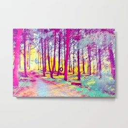 Let's Take Our Hearts For A Walk In The Woods and Listen to the Magic Whispers of Old Trees... Metal Print