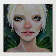 Green Faerie ~ Tink's sister Canvas Print