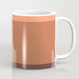 Peach Gradient Pattern Coffee Mug