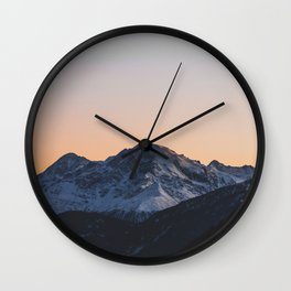 Italian Alps Wall Clock