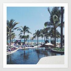 Paradise in Bali Art Print