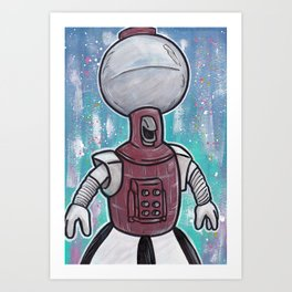 Tom Servo Art Print