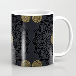 """Black & Gold Arabesque Mandala"" Coffee Mug"