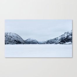 Blinded by the Norwegian snow Canvas Print