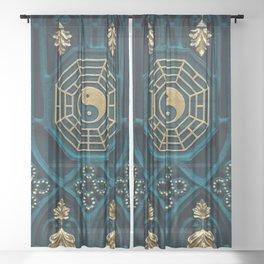 Yin Yang Sheer Curtain