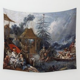 François Boucher - Chinese Fishing Wall Tapestry